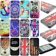 Various Designs Hard Back Plastic Skin Cover Case For Apple Samsung Mobile Phone