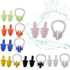 Swimming Waterproof Soft Silicone Set Soft Nose Clip + Ear Plug Earplug Tool