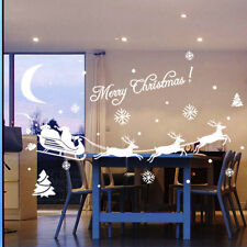 Christmas Decoration Decal Window Wall Sticker Home Decor Removable Santa Claus