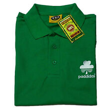 Paddidas Spoof Funny St Patrick's Day Irish st Paddy's Green Polo Shirt - to 5XL