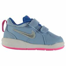 Nike Pico 4 Trainers Infant Girls Blue/Silver Sneakers Sports Shoes Footwear