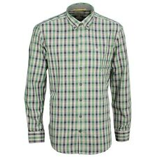 Camel active Men's Casual Shirt Regular Fit blue green red-white check 395350 32