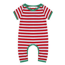 Xmas Newborn Baby Boys Girls Romper Jumpsuit Bodysuit Striped Romper Outfits
