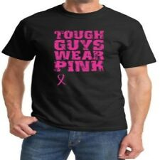 Breast Cancer Awareness T Shirt Tough Guys Wear Pink Ribbon Support Fight Hope