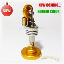 2017 New Straight Type Hot Air Stirling Engine Motor Model Golden Color