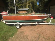 1954 14' Dunphy Runabout with 35 Hp Outboard and Trailer