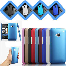 For HTC Desire 816 Rubberized Glossy Hard Back Case Cover Matte Thin Snap On