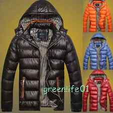 Pure Color Hooded Cotton Coat Winter Warm Fashion Short Thicken Jacket Men's