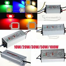 Waterproof 10W 20W 30W 50W 100W LED Driver Supply / LED SMD Chip Bulb High Power