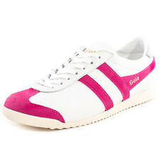 Gola Bullet Womens Trainers White Fuschia New Shoes