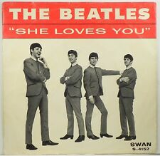 "BEATLES ""She loves You"" b/w ""I'll Get You"" With Picture Sleeve SWAN 4152 VG+"