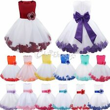 Lvory Flower Girl Tie Bow Sash Party Wedding Pageant Wedding Bridesmaid Dresses