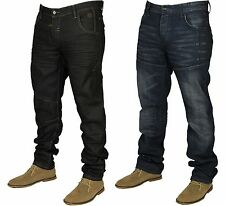 MENS BRAND NEW VOI JEANS IN BLACK COATED & DARK STONEWASH COLOURS RRP £54.99