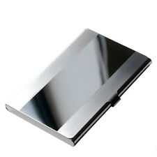 Stainless Steel Pocket Name Credit ID Business Card Holder Box Metal Case QW