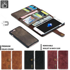 Real Leather Removable Wallet Magnetic Flip Card Case Cover For iPhone 7/ 7 Plus
