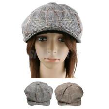 Phenovo Men Tweed Flat Gatsby Beret Cap Newsboy Baker Boy Ivy Driving Cabbie Cap