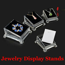 Acrylic Clear Jewelry Necklace Pendant Earing Display Holder Stand Rack Wedding