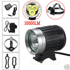 Bike Bicycle 10000LM 3x CREE XML U2 LED USB Head Lamp HeadLight Headlamp Torch
