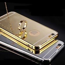 For iPhone 6 6s Plus 5s Case Cover Ultra-thin Luxury Aluminum Metal Mirror Back