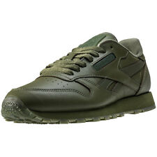 Reebok Classic Solids Mens Trainers Green New Shoes