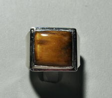 Tiger's Eye 12.67ct Handcrafted Sterling Silver Cabochon Ring