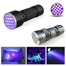2015 UV Ultra Violet 21 LED Flashlight Mini Blacklight Aluminum Torch Light Lamp
