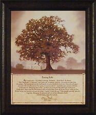 LIVING LIFE by Bonnie Mohr 20x24 FRAMED PRINT PICTURE Tree Inspirational Quote