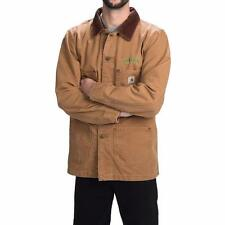 New Carhartt Weathered Cotton Duck Chore Coat Jacket Brown Oregon M/L/XL