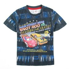Toddlers boys McQueen racing cars 100% cotton summer t shirt  (18M-6Years)