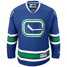 Vancouver CANUCKS RBK NHL Premier Alternate Jersey 100% Original