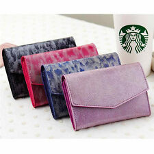 Women Lady Patent Leather Envelope Wallet Bag Case Clutch Card Holder Coin Purse