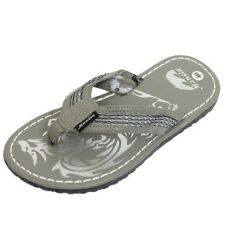 MENS GREY TOE-POST SUMMER FLIP-FLOP HOLIDAY BEACH COMFY SANDALS SHOES SIZES 6-10