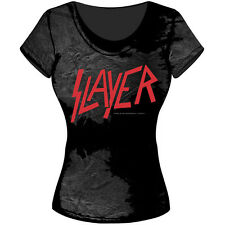 Slayer Girlie - Shirt Classic Logo U.S.Thrash Metal Reign in Blood