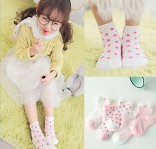 Hot 5 Pairs Baby Girl Cartoon Cotton Socks NewBorn Infant Toddler Kids Soft Sock