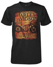 Harley-Davidson Men's Classic Ad Motorcycle Short Sleeve T-Shirt, Black