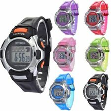 Men Women Kids Electronic LED Digital Multifunction Plastic Sports Wrist Watch