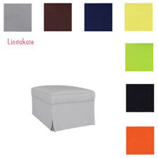 Custom Made Cover Fits IKEA Ektorp Footstool Cover, Replace Footstool Cover
