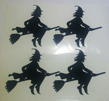 Halloween Wall Stickers - Witch x 4 Spooky witches graphics decal