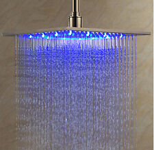 LED Square Rain Shower Head Waterfall Automatic Body Massage Spray Jets Large