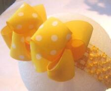Yellow Double Layered Hair Bow Baby Toddler Boutique