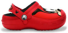 Crocs Mickey Mouse & Goofy Lined Clogs - Red/Black
