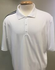 Adidas Golf ClimaCool 3 Stripes White Golf Shirt Mens New - Choose Size!