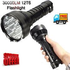 13000LM 12x CREE XM-L XML T6 LED 18650 Flashlight 26650 Lamp Torch Light Lantern