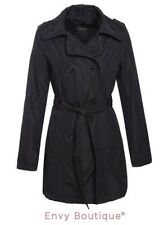 Brave Soul Ladies Womens Trench Mac Belted Jacket Double Breasted Coat