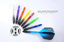 5 SETS OF HARROWS SUPERGRIP FUSION DART STEMS SHAFTS - 8 COLOURS -  3 SIZES