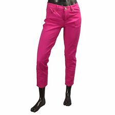 US Polo Assn Womens Hot Pink Stretch Colored Capri Crop Denim Jeans Size 8