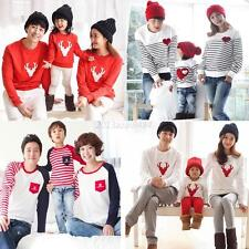 Family Matching Tops Mother Father Baby Kid Long Sleeve Pullover T Shirt Clothes