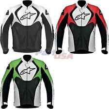 Alpinestars Jaws Perforated Jacket Long Sleeve Leather Solid