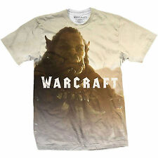 World Of Warcraft Durotan Sublimation OFFICIAL Horde Frostwolf T-shirt to XXL 4B