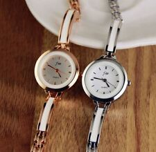 Fashion Women's Crystal Bracelet Stainless Steel Analog Quartz Wrist Watch MASA#